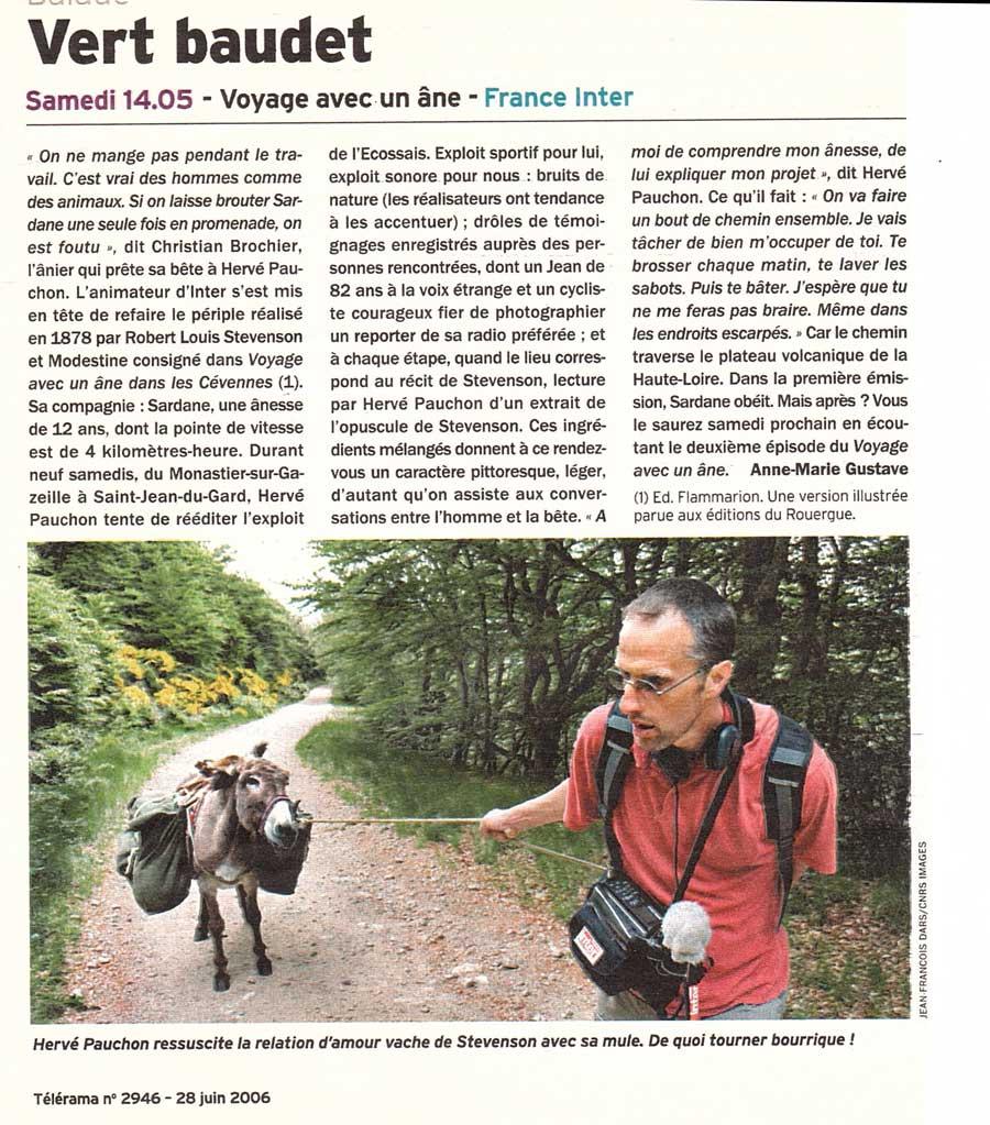 Production et reportage de « voyage avec un âne » sur les traces de R.L Stevenson