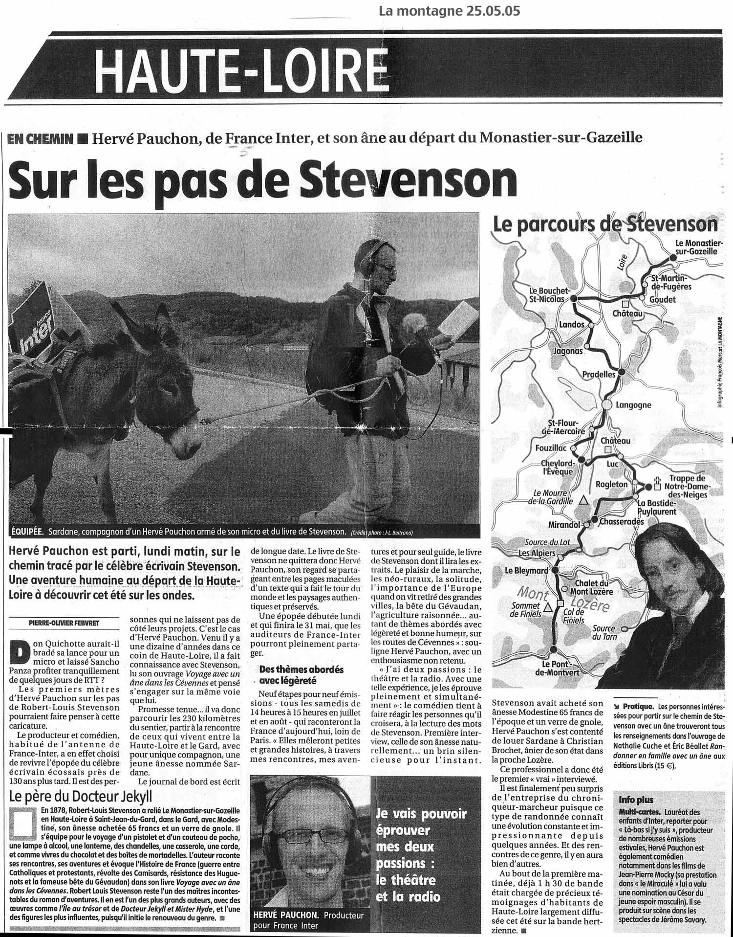 Voyage Avec Un Âne Presse2
